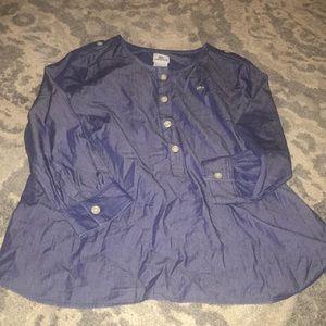Lacoste chambray ladies blouse EUC 44(12)